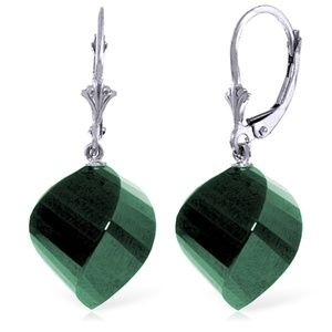 EARRINGS WITH TWISTED BRIOLETTE EMERALDS